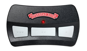 overhead door remote with 3 buttons